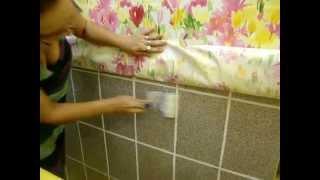 Colando tecido na parede