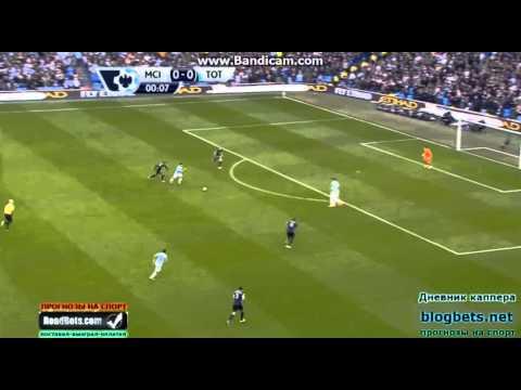 Jesus Navas Amazing Goal 14 Seconds in vs Tottenham (1-0)