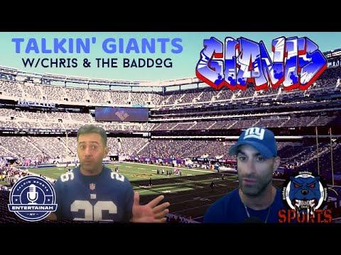 NEW YORK GIANTS LIVE TALK SHOW! Talkin' Giants w/Chris & The Baddog. Rumors, Draft, Wentz Trade