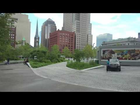 Walking Around Public Square - Downtown Cleveland, Ohio