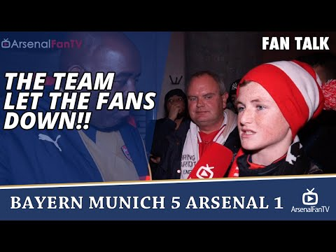 The Team Let The Fans Down!! | Bayern Munich 5 Arsenal 1
