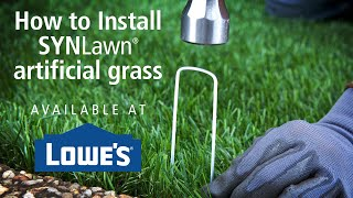 How to install SYNLawn artificial grass available at Lowe's Home Improvement