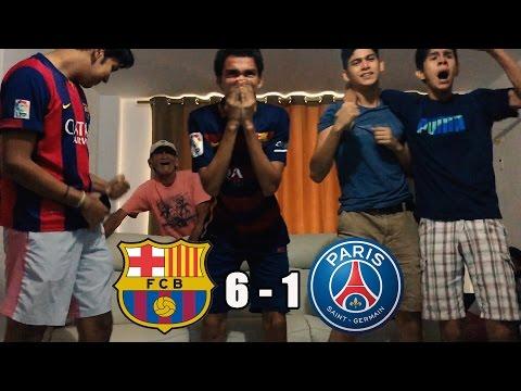 Barcelona Vs PSG 6-1|8vo De Final Champions League 2017| (REACCIONES DEL PARTIDO)