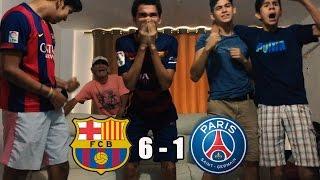 Barcelona Vs PSG 6-18vo De Final Champions League 2017 REACCIONES DEL PARTIDO