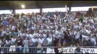 Torcida Jovem Corumbaense (TJC) no estádio Arthur Marinho em Corumbá