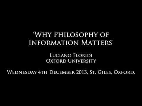 Why Philosophy of Information Matters - Lecture