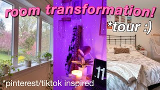 EXTREME ROOM MAKEOVER + TOUR 2021 *aesthetic tiktok/pinterest room tour*