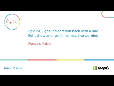 Epic NHL goal celebration hack with a hue light show and real-time machine learning
