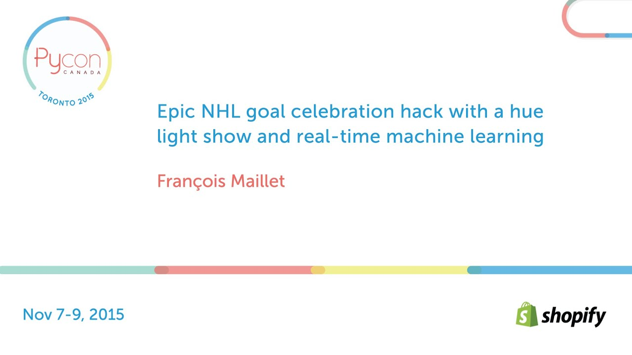Image from Epic NHL goal celebration hack with a hue light show and real-time machine learning