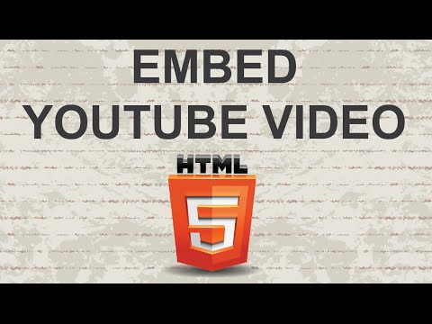 Embed Youtube Video HTML