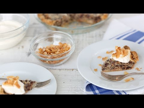 German Chocolate Pie with Toasted Coconut- Everyday Food with Sarah Carey