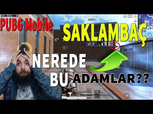 Pubg Mobile SAKLAMBAÇ oynad?k! (Pubg Mobile Pusu Taktikleri için güzel yerler)