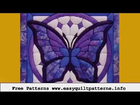 easy machine quilting butterfly applique quilt block patterns ... : applique quilt block patterns - Adamdwight.com