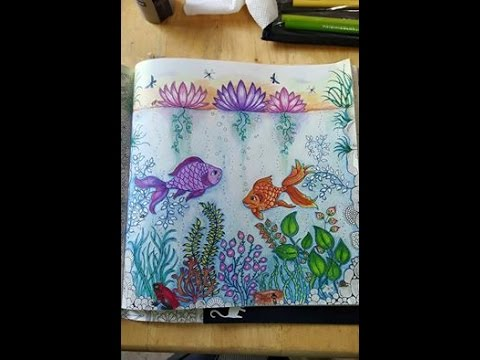 Secret Garden Coloring Book Fish Page Part 2