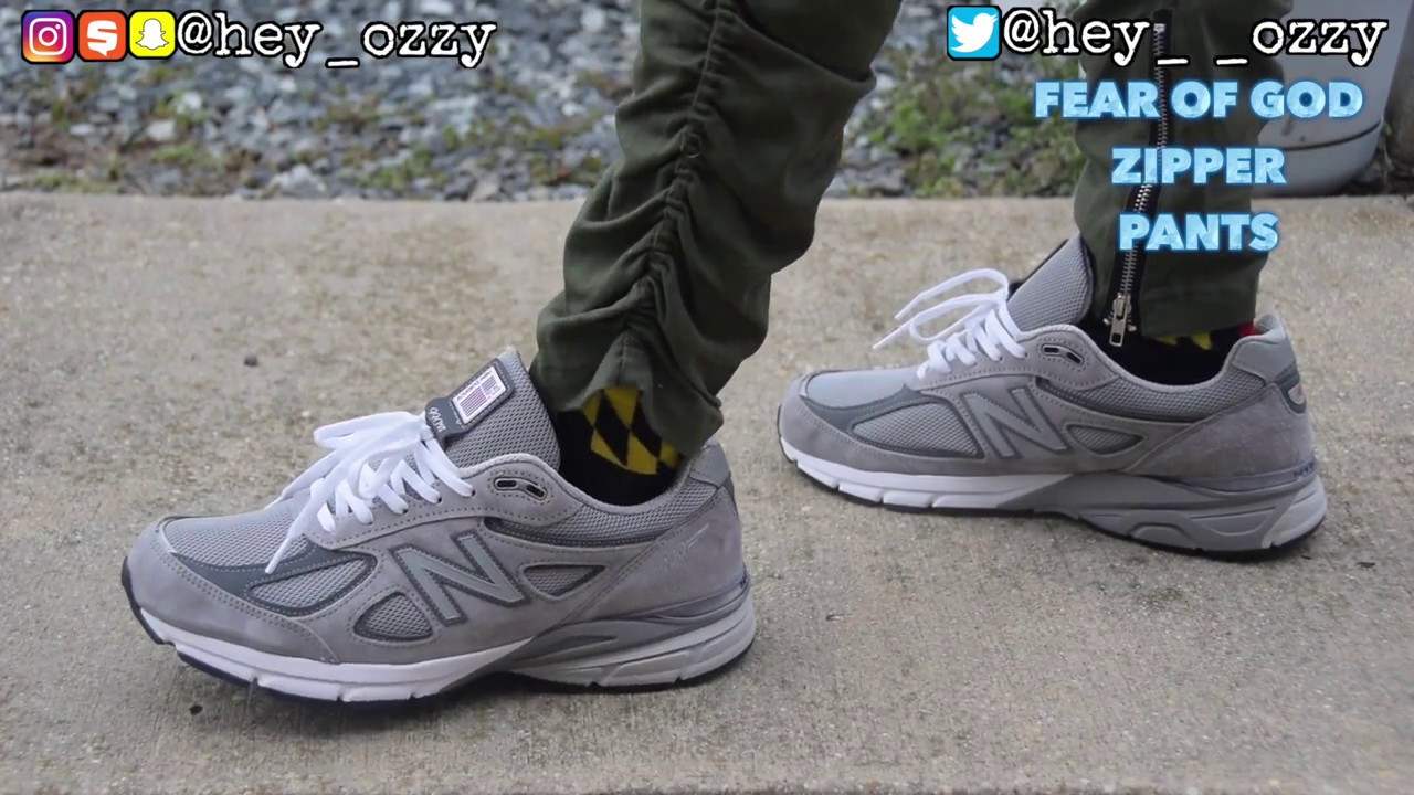 size 40 dc6b5 82d91 New Balance 990 v4 Gray Review + On Feet Review (@hey_ozzy Instagram)
