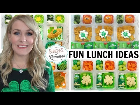 FUN St. Patrick's Day Lunch Ideas & What They Ate | JK, K, 1st Grade, 2nd Grade | Bunches Of Lunches