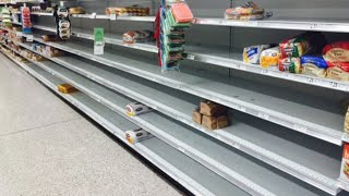 Storm panic sells out bread, booze and milk