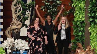 'The Kitchen' Stars Melissa McCarthy, Tiffany Haddish, & Elisabeth Moss Dance It Out