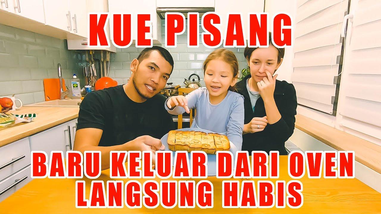 BIKIN KUE PISANG ( Banana cake ) ANAK DAN ISTRI SAMPE LAHAP KALI MAKANNYA