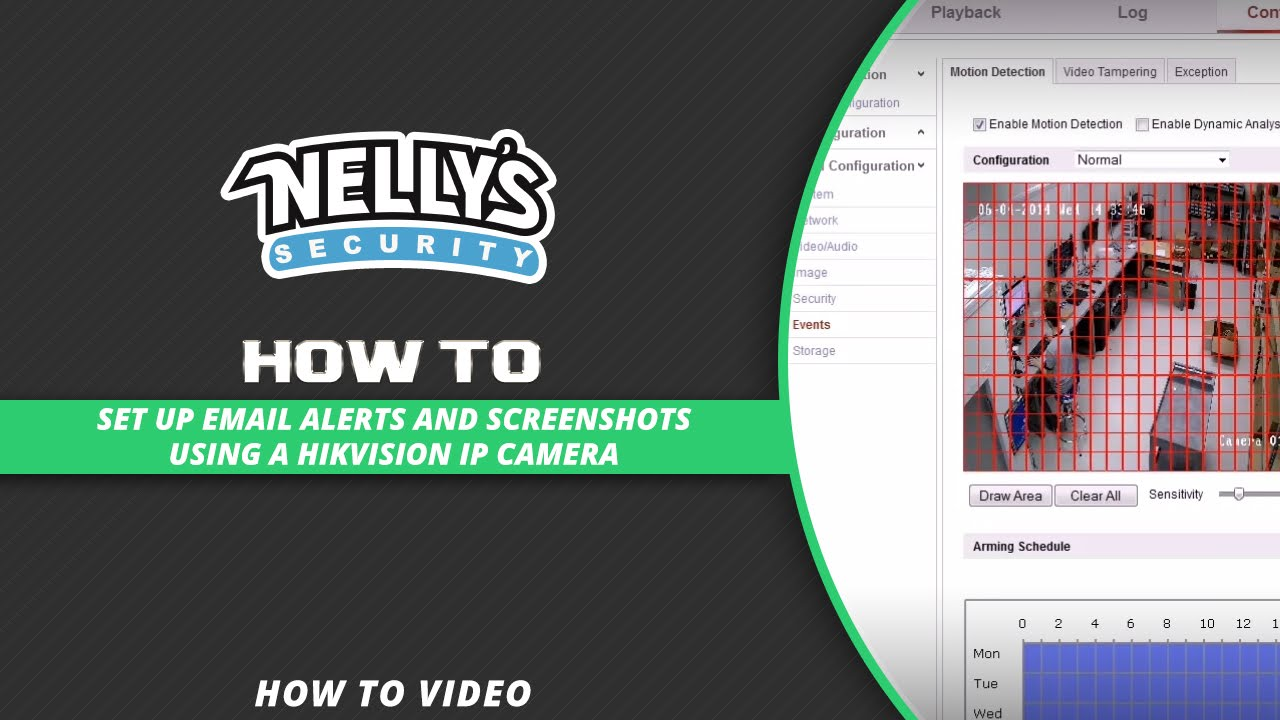 How to set up email alerts and screenshots using a Hikvision IP camera