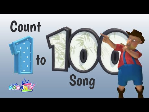 Counting 1 to 100 Song   Count Numbers On The Train   Nursery Rhymes - Kids Songs