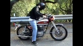 1972 Yamaha XS 650, Brillaint Red Candy Paint, Straight Pipes