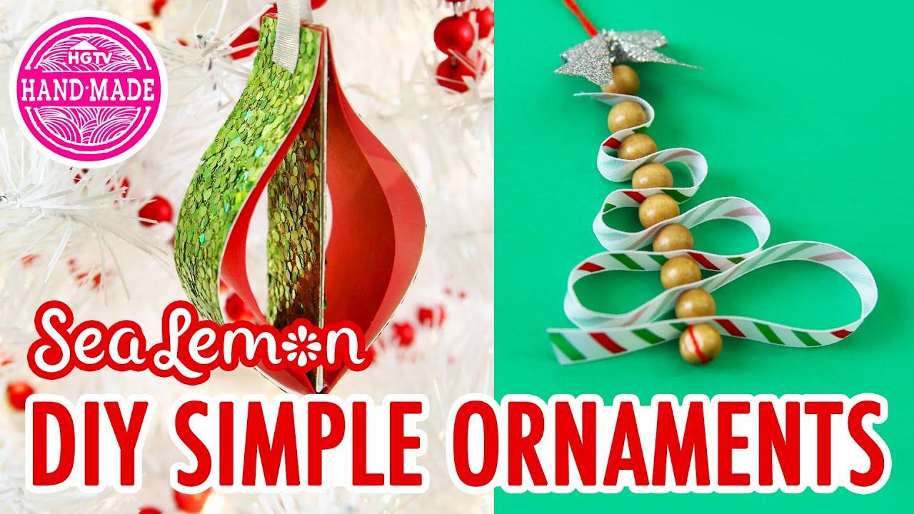 Simple DIY Christmas Ornaments With Sea Lemon