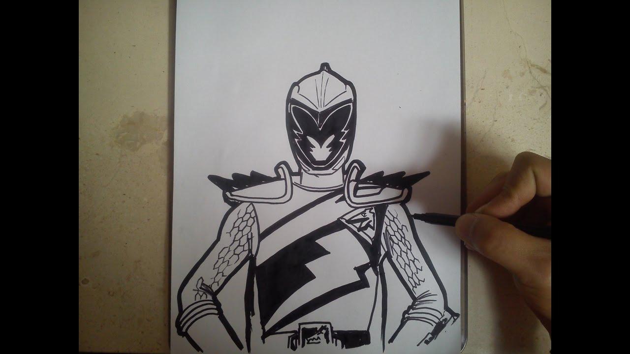 Como Dibujar Power Ranger Dino Charge Dorado How To