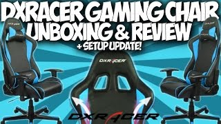 Dxracer Gaming Chair Unboxing & Review!!! + Setup Update!! @dxracerusa