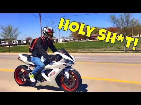 download Yamaha R1 First Ride | First Time On A Liter Bike | Kid Highsides