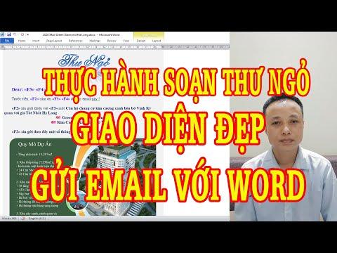 Thực hành soạn thư ngỏ giao diện đẹp gửi email với word