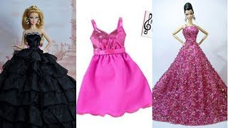 👗 DIY Barbie Dresses with Making Easy No Sew Clothes for Barbies Creative for Kids