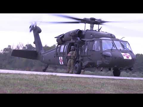 II MEF Support Battalion Conducts Medevac Drills With U.S. Army National Guard
