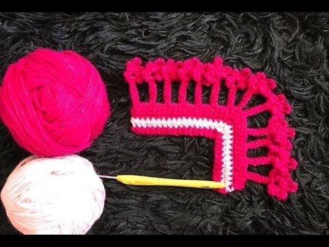 How To Crochet Flower Border Edging Pattern 666by