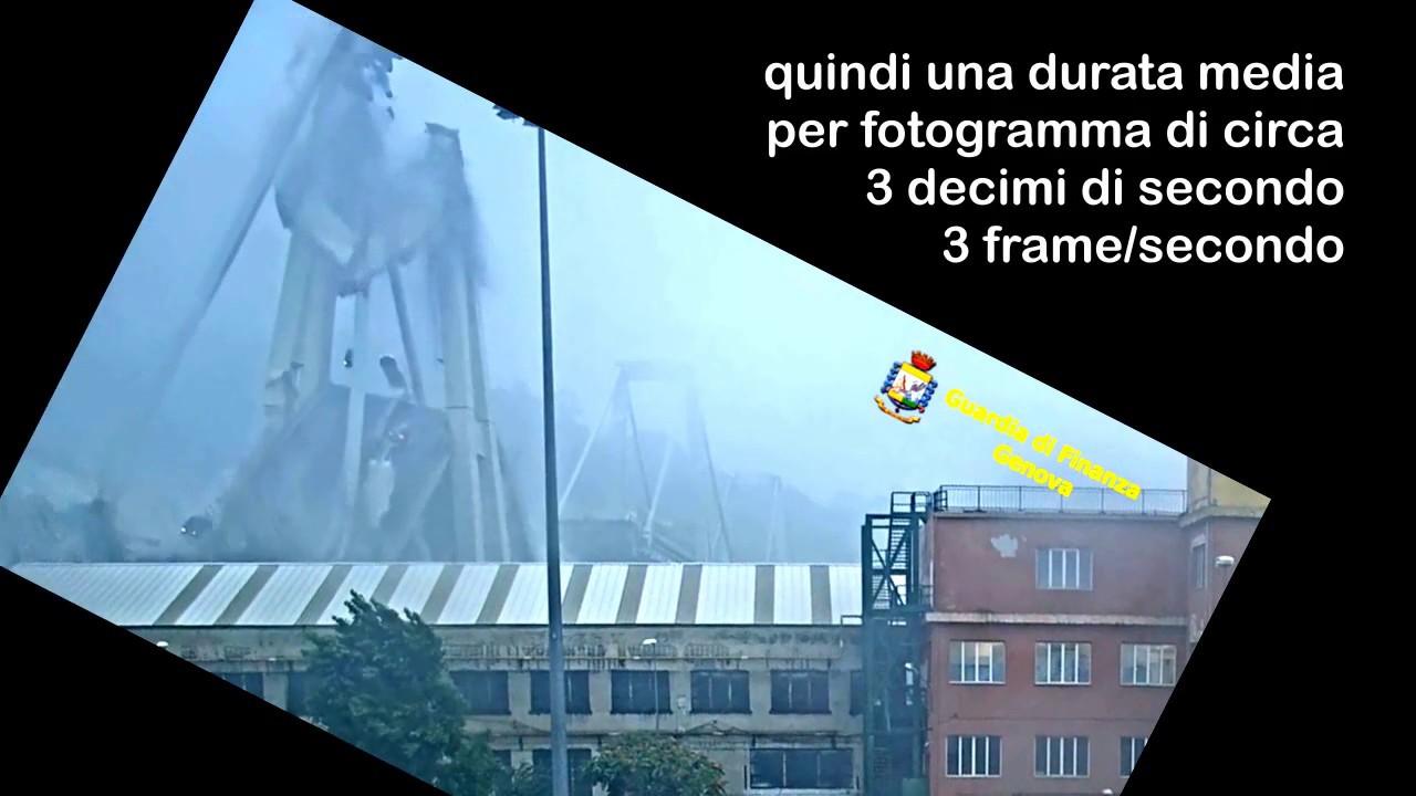 Anomalie video crollo Ponte Morandi a 3fps (Ferrometal)