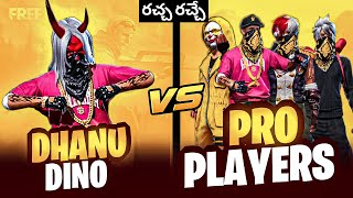 Download Dhanu Dino vs pro players 1 vs 4 clash squad custom room dangerous fights in free fire in Telugu