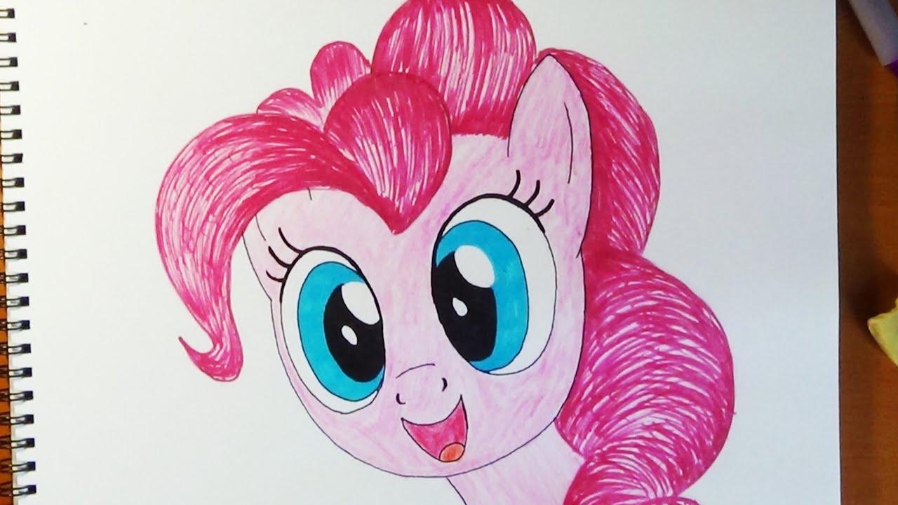 пинки карандашом рисунки пони пай