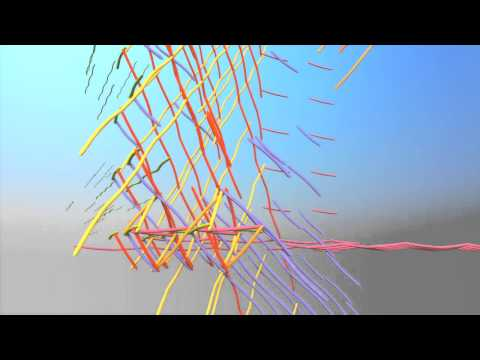 Tensegrity 3-D Space Frame Animation