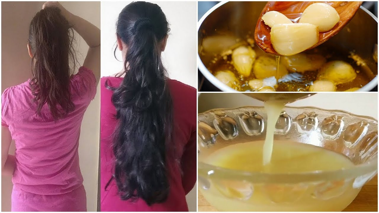 HOMEMADE GARLIC HAIR OIL FOR HAIR GROWTH GET THICK HAIR,LONG HAIR,HEALTHY HAIR,