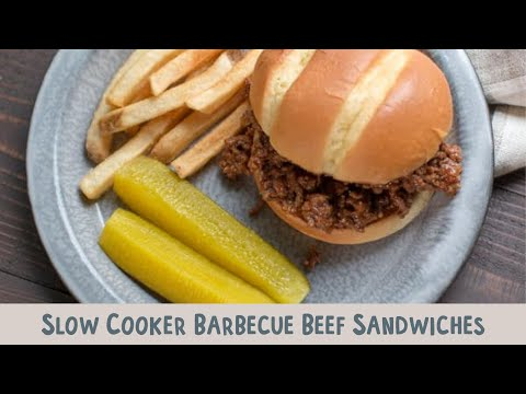 Slow Cooker Barbecue Beef Sandwiches