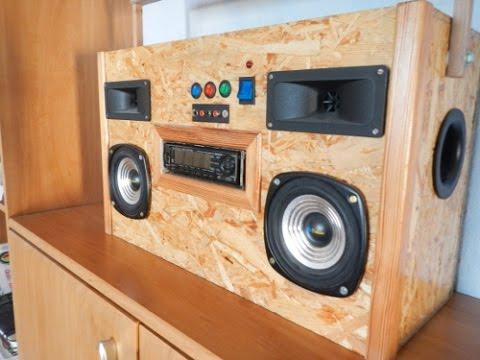 homemade car audio boombox youtube. Black Bedroom Furniture Sets. Home Design Ideas