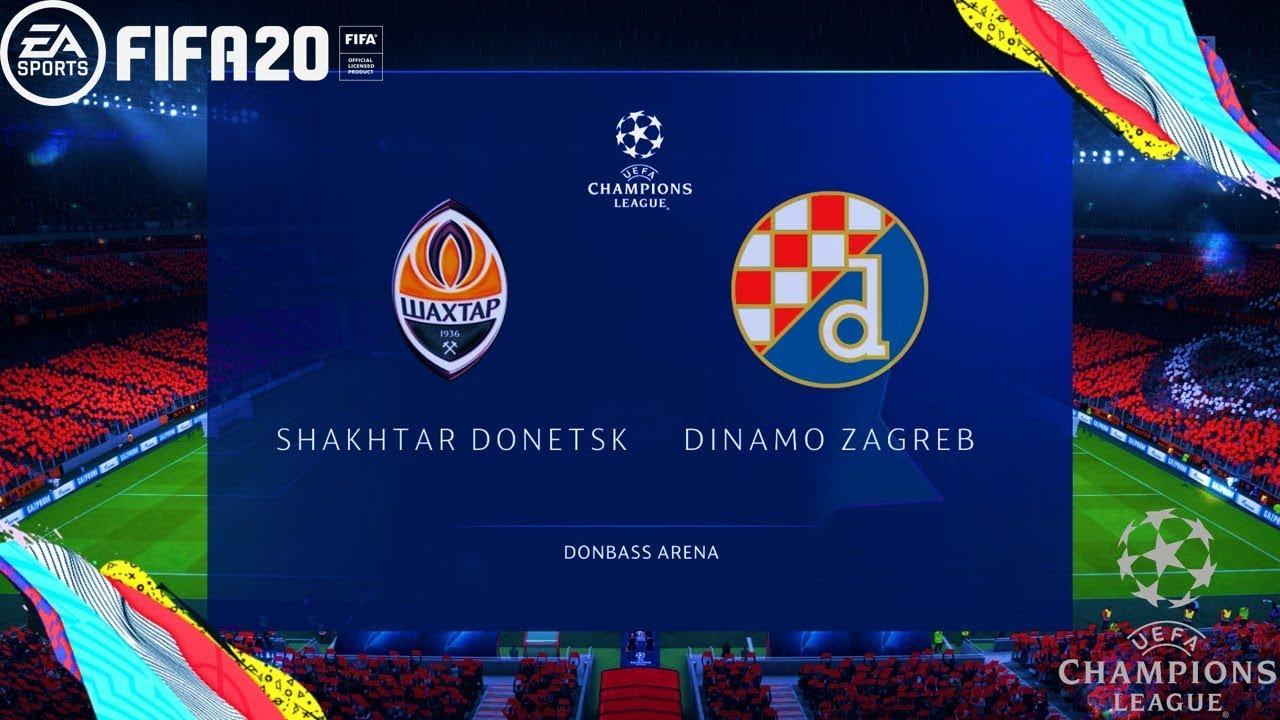 Fifa 20 Uefa Champions League 19 20 Shakhtar Donetsk Vs Dinamo Zagreb Gameplay Pc Youtube