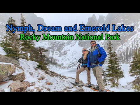 Snowshoeing Nymph, Dream And Emerald Lakes - Rocky Mountain National Park