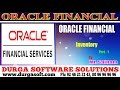 Oracle Finacial||online training||  Inventory Part - 1 by SaiRam