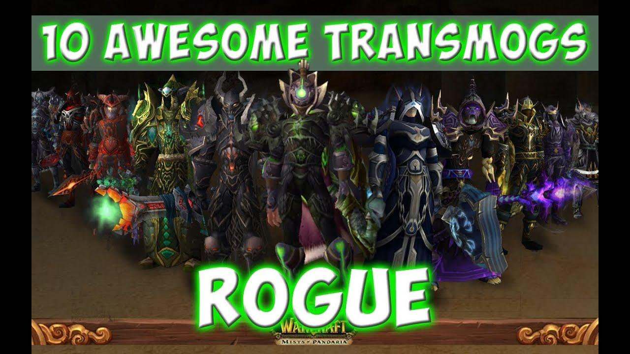 10 Awesome Rogue Transmog Sets World Of Warcraft Youtube