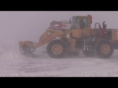 Severe overnight blizzard in China causes traffic delays