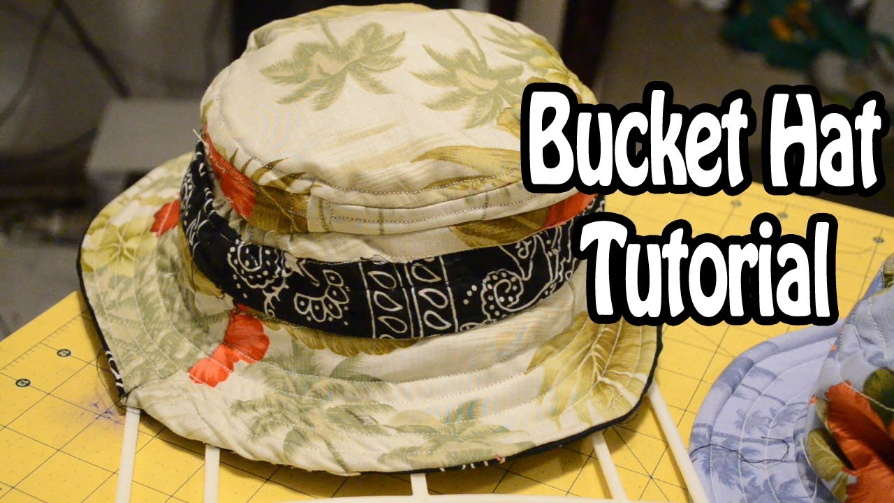 Diy How To Make A Bucket Hat From Scratch 6 Youtube