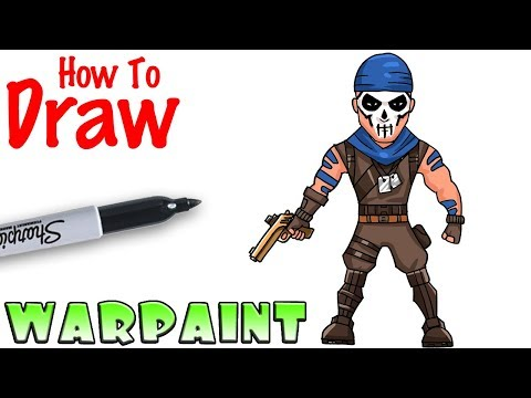 How To Draw Warpaint   Fortnite