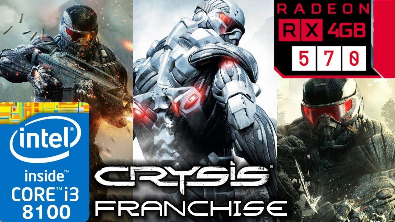 Crysis Franchise - RX 570 - 1 - 2 - 3 - Warhead - i3 8100 - Series  Benchmark PC