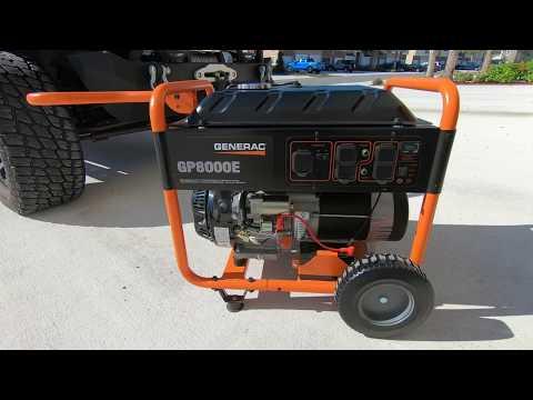 Generac Portable Generator - GP8000E
